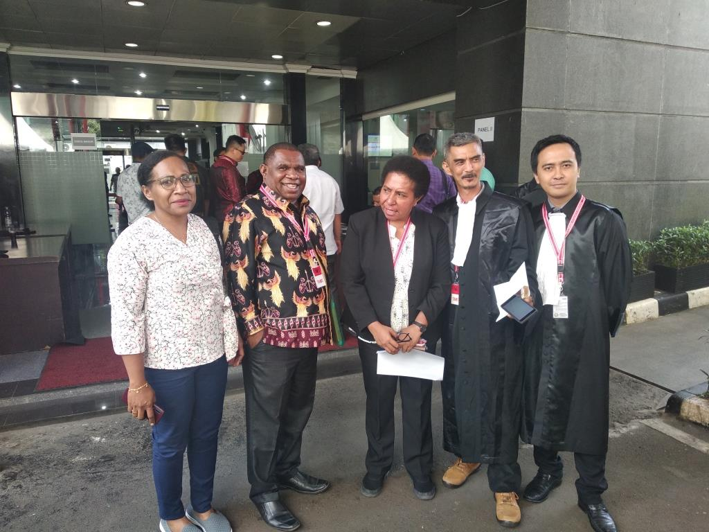 Sidang PHPU Pileg DPRD Kabupaten Mappi di Mahkamah Konstitusi, Jakarta 15 Juli 2019